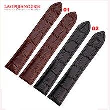 Laopijiang correa de cuero real adaptador del tanque W5200005 W5200013 hombres y mujeres moda correa 16 / 18 / 20 mm