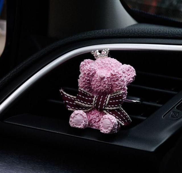 Nuevo ambientador de aire del coche lindo oso en el coche aire acondicionado Salida de Perfume Clip Auto decoración adornos difusor de fragancia del coche