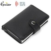 Gemeer RFID автоматический кошелек кредитный держатель для карт чехол алюминиевый сплав анти-дегаузсинг Противоугонная RFID банковская кредитная карта