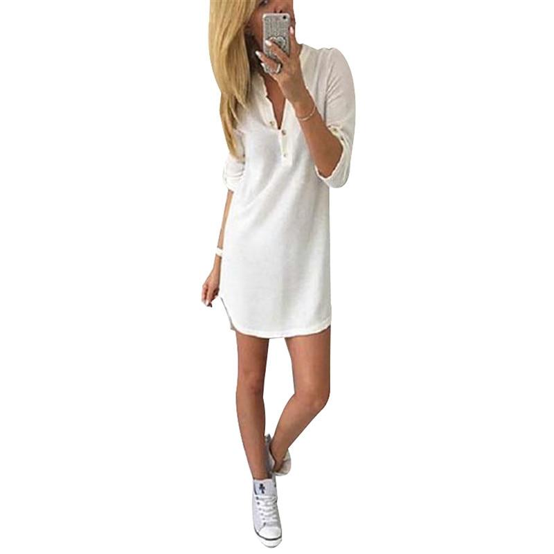 Women Sweater Dresses V-Neck Casual Mini Dresses Warm Knitted Autumn Dresses Elegant Dresses Plus Size LJ7214E