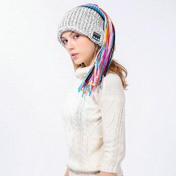 2018 Fashion Style Winter Women Novelty Hat Wireless Bluetooth 4.2 Smart Cap Headphone Headset Speaker Mic Hot Sale