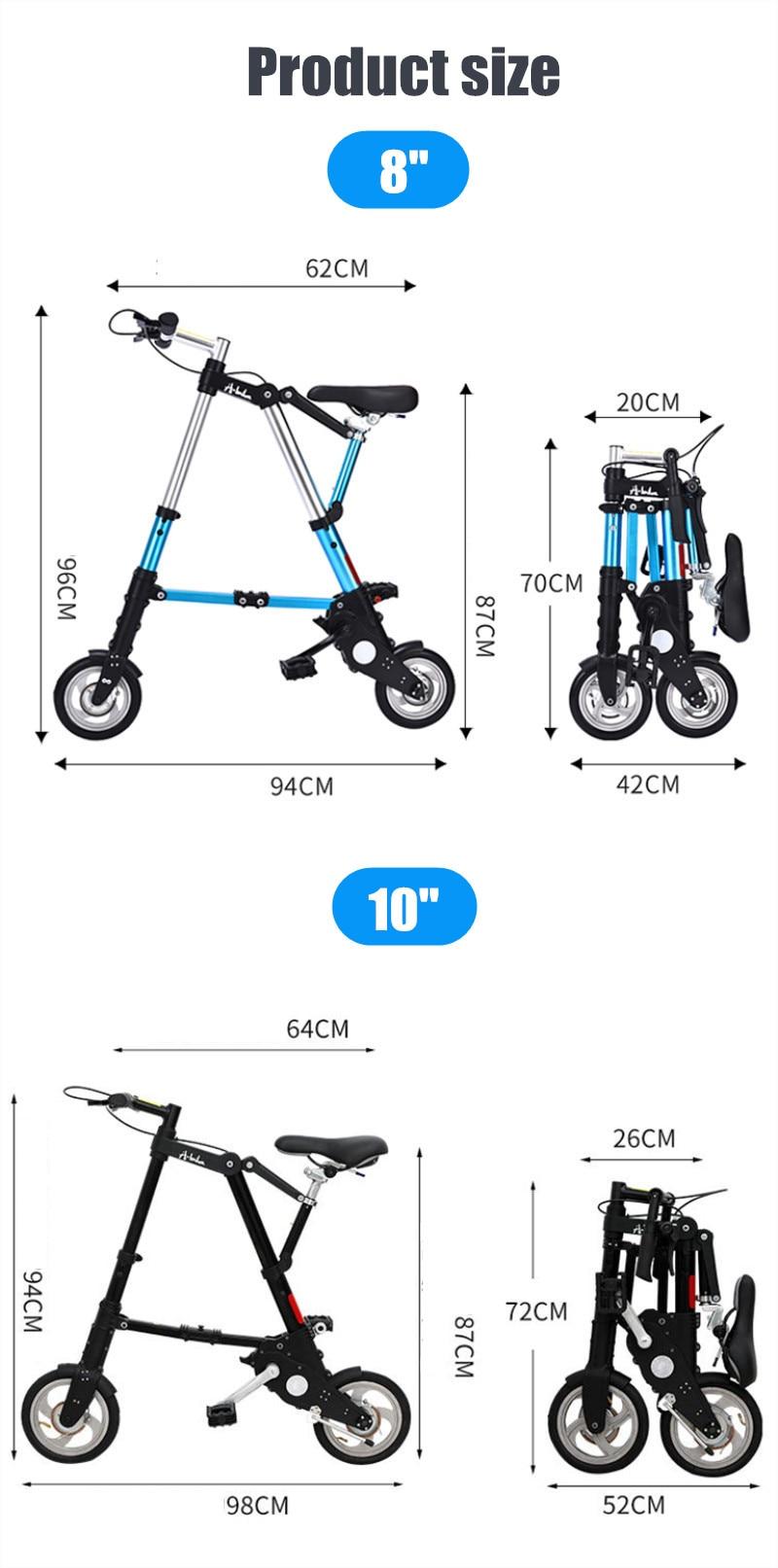 "HTB15VydXhv1gK0jSZFFq6z0sXXaP Brand New Ultra Light  8""/10"" Mini Folding Bike Bicycle Portable Outdoor Subway Transit Vehicles Foldable Bicicleta"
