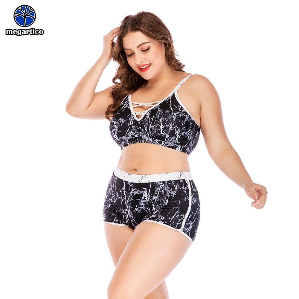 plus size women bikinis 2019 mujer push up bandeau bikini black big size sexy lace up high waist maillot de bain femme 1
