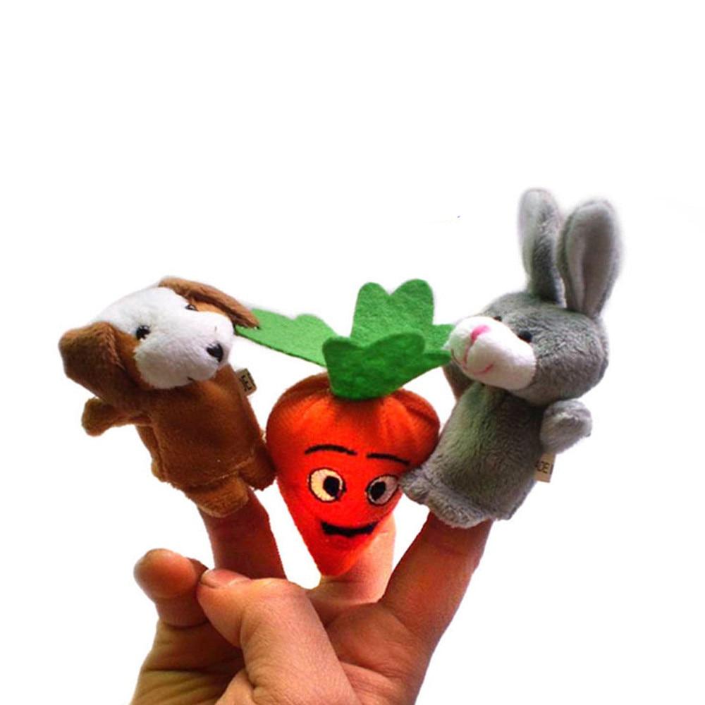 5pcs Animal Finger Puppet Plush Child Baby Early Education Toys Gift