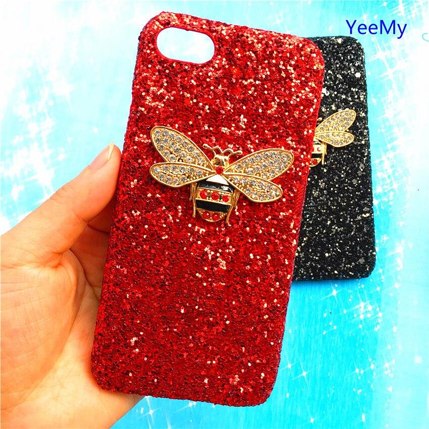Hard Bling Glitter Bee Diamant Fall Für Iphone X 8 7 6 S Plus 5 5 S Se Vivo X21 X20 X9 X7 Y85 Y79 Y75 Y71 Y67 Y66 Y55 Abdeckung Verpackung Der Nominierten Marke
