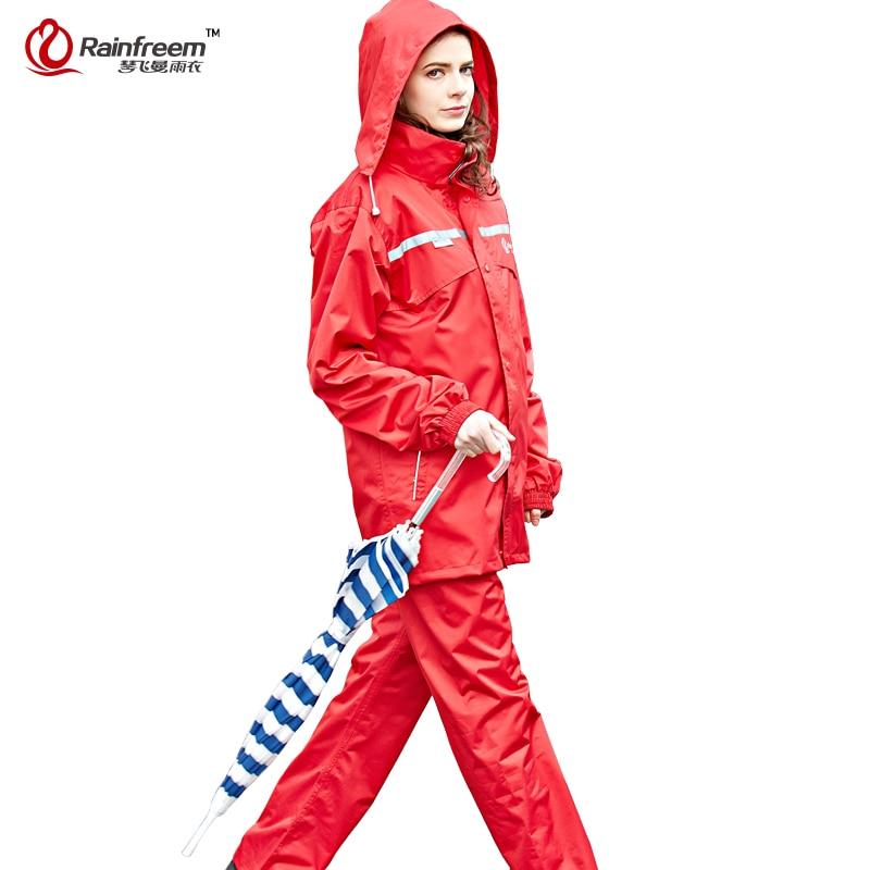 Rainfreem Impermeable Raincoat Kvinder / Herre Hood Rain Poncho - Husholdningsvarer - Foto 6