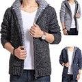 2018 Autumn Winter Men's SweaterCoat Faux Fur Wool Sweater Jackets Men Zipper Knitted Thick warm Coat Casual Knitwear New