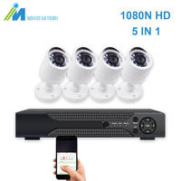 MX 1080N Video Surveillance System 4CH CCTV Security Kit 4PCS 1080P Security Camera Super Night Vision