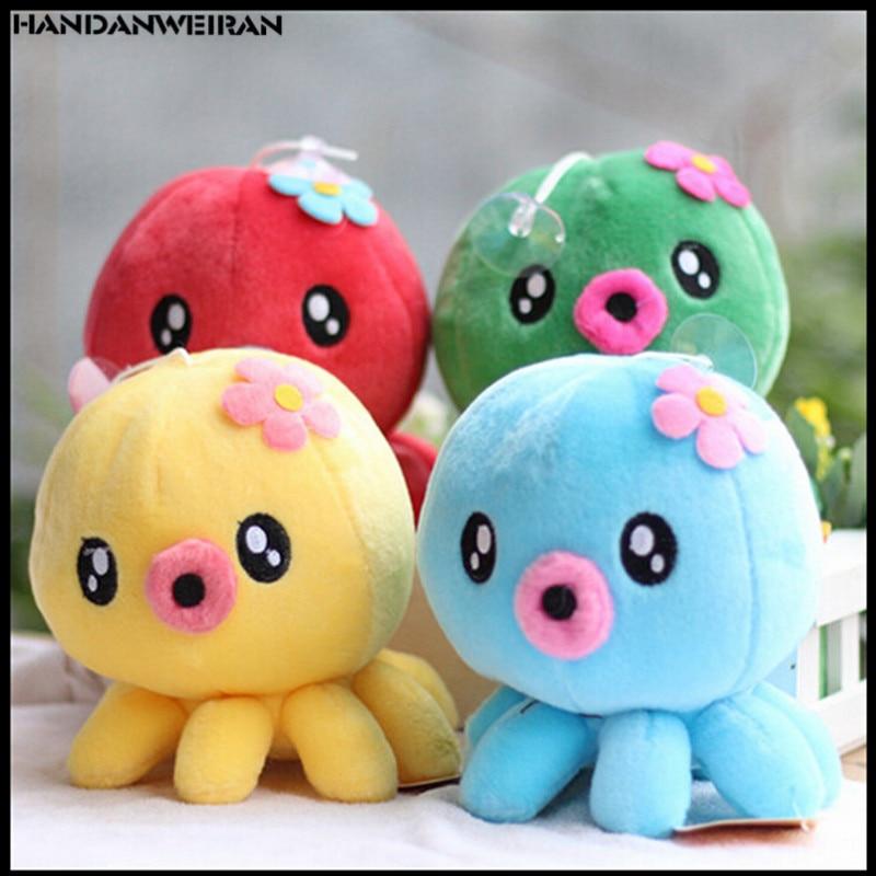 1PCS Mini 8cm cartoon color Octopus plush toy Christmas gift Plush small pendant kawaii animal plush toys for girl 2018 hot sell