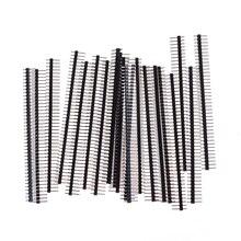 20 шт. одиночный штыревой разъем для Arduin 1x40 ряд 2,54 ломаемый 40 штырьков разъем полосы платы модуль электронная часть Elektronik