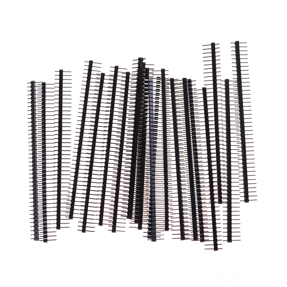 20pcs Single Male Pin Header For Arduin 1x40 Row 2.54 Breakable 40 Pins Connector Strip Board Module Electronic Part Elektronik