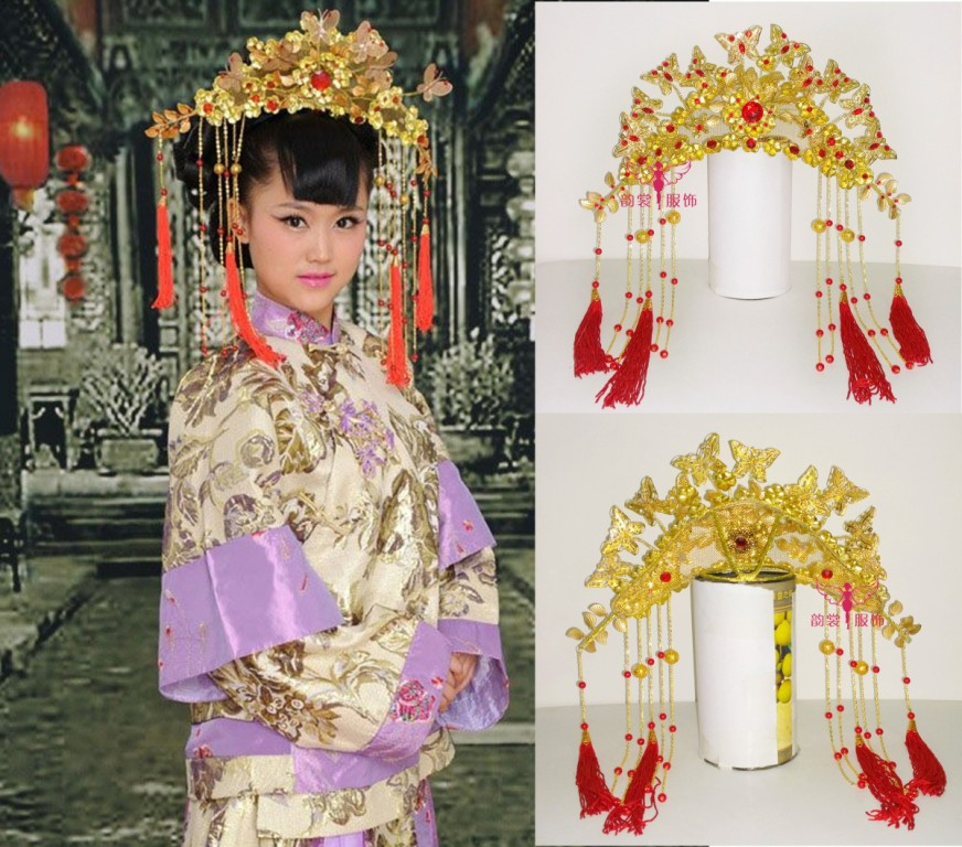 цена на Female costume hair accessory hanfu hair tiaras bride wedding accessories coronet