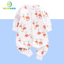 Купить с кэшбэком Spring Baby Sleeping Bags Cotton Baby Sleep Sacks Pajamas Newborn Jumpsuit Infant Swaddle Zip Sleeping Bags For Kids