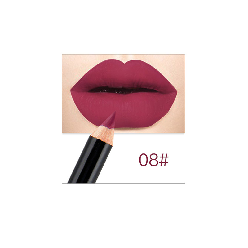 Dropshipping 12 Farben Professionelle Lipliner Make-Up Wasserdicht <font><b>Lip</b></font> <font><b>Liner</b></font> Bleistift Set SMJ image