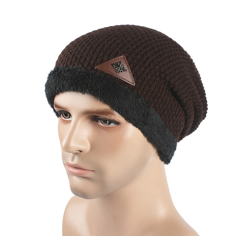 Winter Men Skullies Hat Bonnet Beanie Knitted Wool Hat Plus Velvet Cap Thicker Mask Fringe Beanies Hats Factory Price wool skullies cap hat 10pcs lot 2289