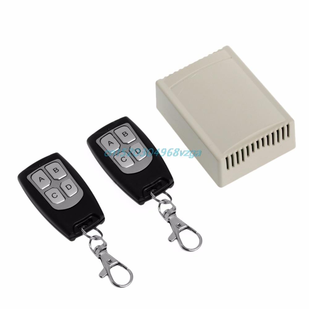 Wireless Remote Control 4CH 315MHz Relay Switch 2 Transceiver + Receiver DC 12V #H028# 12v dc 4ch relay 1 receiver
