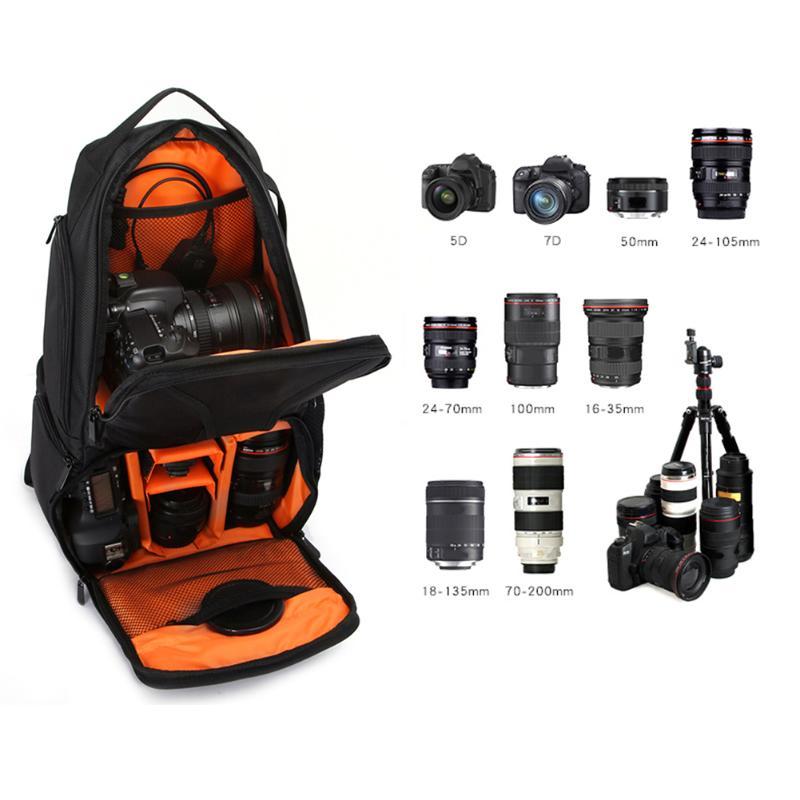 ALLOET Waterproof Multifunction Digital SLR DSLR Camera Video Bag Sling Shoulder Camera Backpack W/ Rain Cover For Nikon Canon все цены