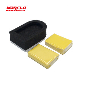 Image 2 - Marflo Magic Clay Bar 2pcs with Sponge Applicator Blue Yellow Auto Cleaning Detailing Clean Clay Bar by Brilliatech