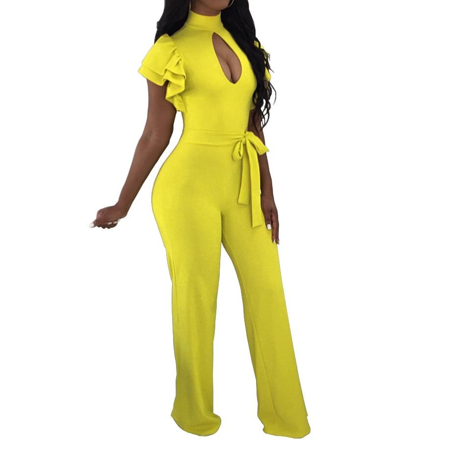 S- XXXL Plus Size Long pant rompers summer women Elegant jumpsuit 3XL big size women clothes Wide leg Pants Clubwear Tunic