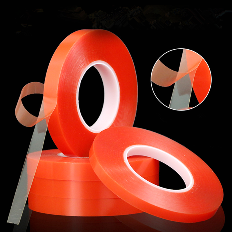 2 Volumes Of 10 M Super Strong High Temperature Double-sided Tape Cell Phone Touch Screen Repair Adhesive Red Fi