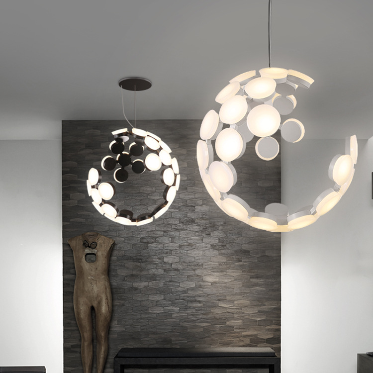 Post-modern living room dining room led chandelier Nordic fashion bar lamps personality art creative ChandelierPost-modern living room dining room led chandelier Nordic fashion bar lamps personality art creative Chandelier