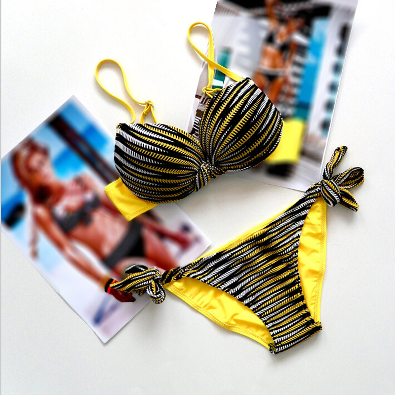 2017 Hot Summer Striped Bikinis Swimwear Women Beach Swimsuit Female Sexy Bathing Suit Swim Wear Push Up Brazilian Bikini Set swimsuit sexy brazilian bikini 2018 women floral swimwear swimsuit push up bikinis set halter beach bathing suit swim wear p