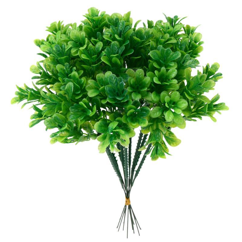 10pcs/set Simulation Grass Artificial Plants for Simulation Flowers Home Hotel Store Dest Decor Decorative Party Potted Decor
