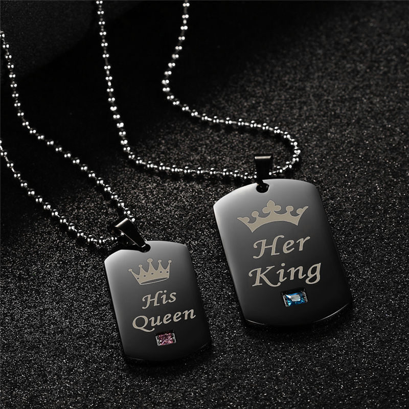 Her King & His Queen Couple Necklaces