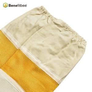 Image 5 - Top di Marca Benefitbee Ape Guanti di Pelle Guanto di Pelle di Pecora New Ventilato Maglia Guanti con Maniche Lunghe Apicultura Attrezzature Bee