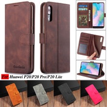 Case For Huawei P20 Pro Leather Vintage Wallet On Lite Phone Funda Cover Flip