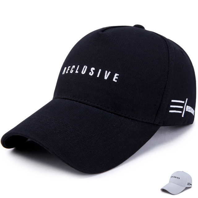df6754fb9a032 2017 Men Women Trend Letter Hip Hop Cap Embroidery Cotton Snapback Hat  Casquette Summer Couple Fashion RECLUSIVE Baseball Caps