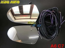FOR Audi A6 C7 Antiglare Anti-glare Dimming Outside Rear View Side Mirror Glass