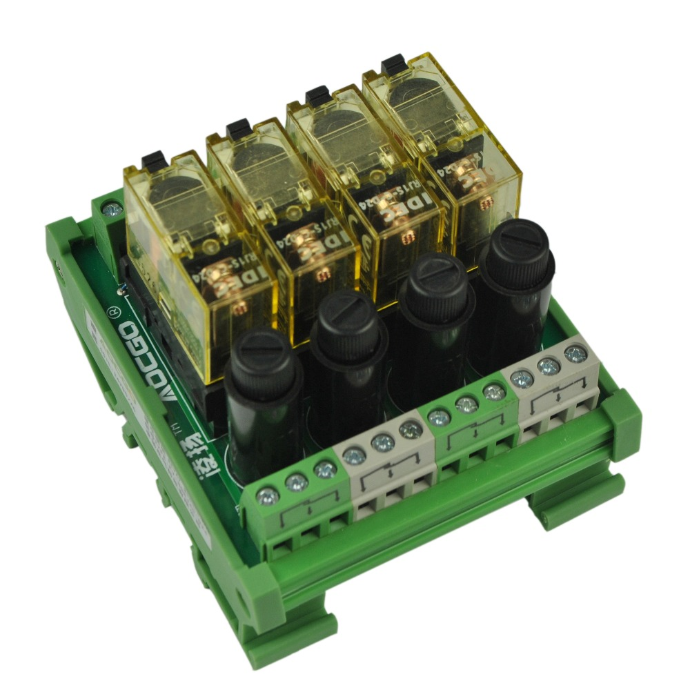 4 Channel 1 Spdt Din Rail Mount Idec Rj1s With Fuse Interface Relay 8 Pin Wiring Diagram Moudle In Relays From Home Improvement On Alibaba Group