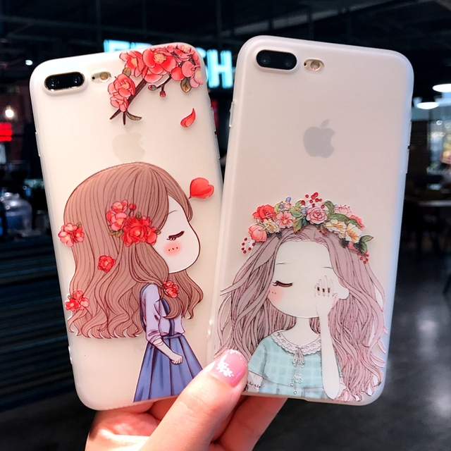 new concept 92934 461ec US $1.89 5% OFF|Pretty Princess Case For iphone 7 plus iphone 8 Cute  Cartoon Soft Case For iphone 6 s 6 s plus iphone 8 Plus Clear Back Cover  -in ...