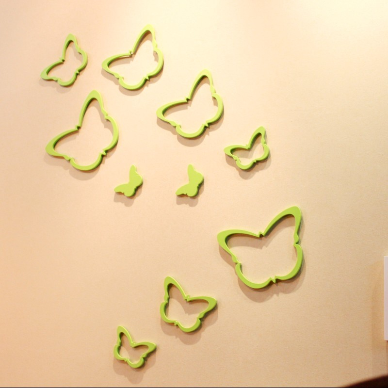 Comfortable 3d Butterflies Wall Decor Images - Wall Art Design ...