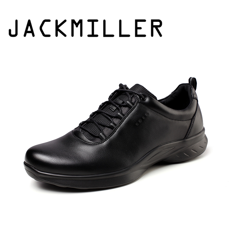 Jackmiller Top Brand Spring New Shoes Men Lace Up Basic Solid Black Cool Sneaker Men Fashion