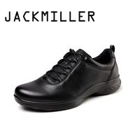 Jackmiller Top Brand New Arrival Spring Autumn Men's Casual Shoes Lace Up Classic Solid Black Cool Shoes Men Fashion Size 39 44