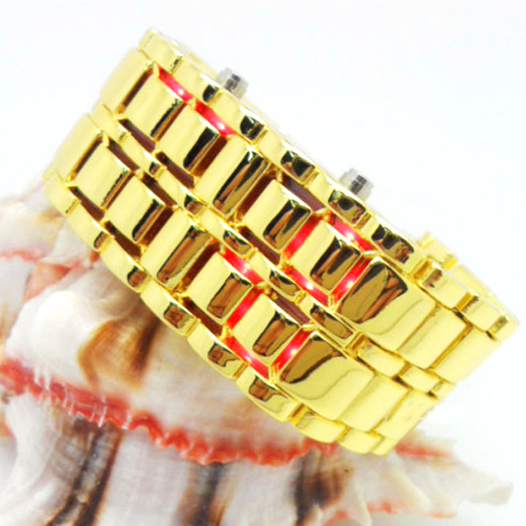 2018 Νέα μόδα ανδρών χρυσό λάβα σιδήρου - Ανδρικά ρολόγια - Φωτογραφία 2