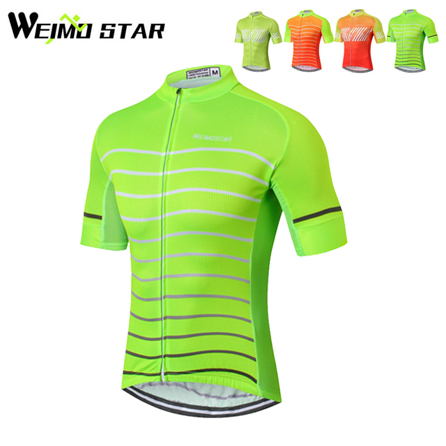 WEIMOSTAR Team PRO Mens Summer MTB Ropa Ciclismo Maillot Cycling Jersey  Bike Short Sleeve Bicycle Tops Shirts 4-Colors 9227f9b4f