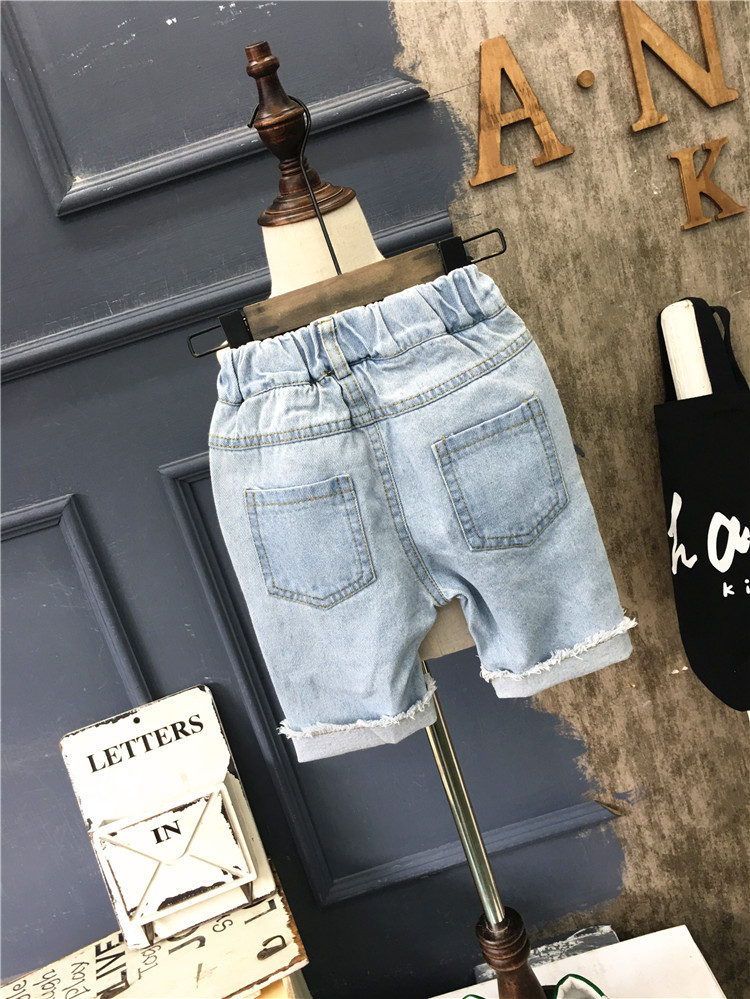 2-7Years Children Pants for baby broken hole summer trousers boys denim shorts kids child casual shorts 5