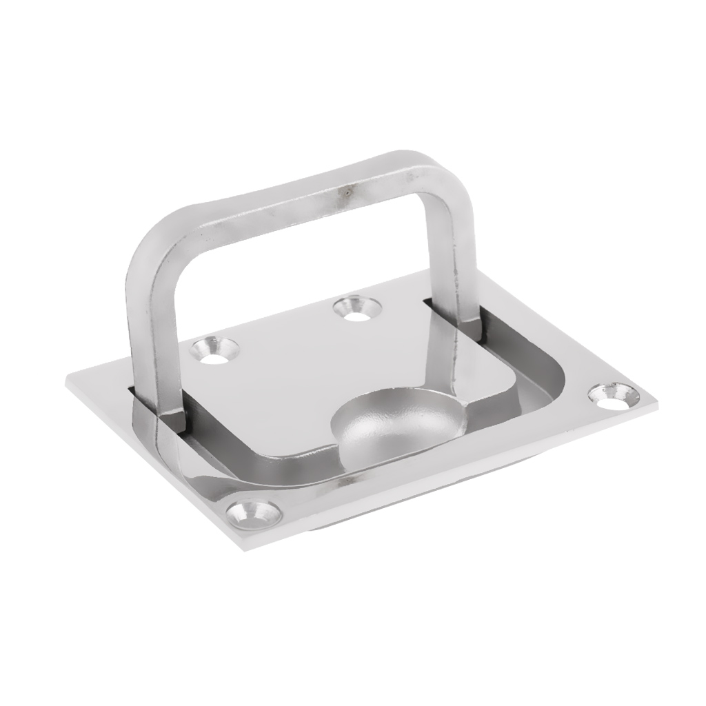Boat 316 Stainless Hatch Latch Flush Mount Hatch Lift Handle Ring Pull Hardware