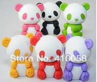 Free shipping unique Chinese Panda eraser 120pcs/lot Creative school  children prize eraser