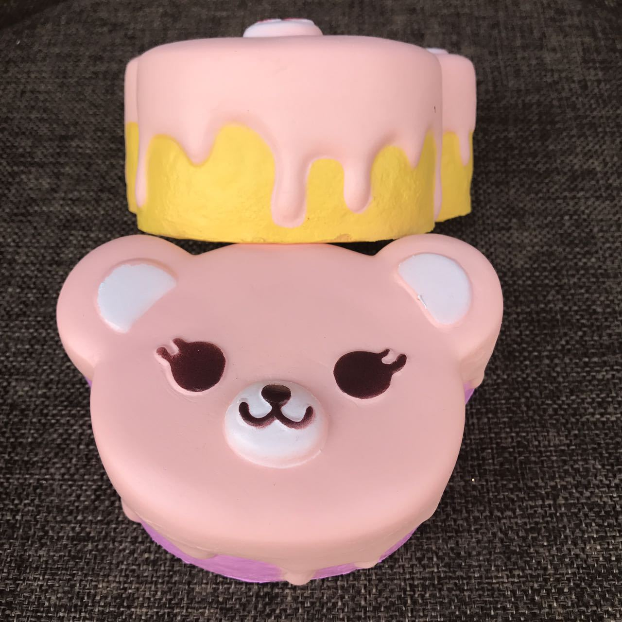 Smile Face Panda Head Cake Squishy Slow Rising Cute Jumbo Soft Squeeze Cream Scented Bread Straps Kid Fun Soft Doll Gift P20
