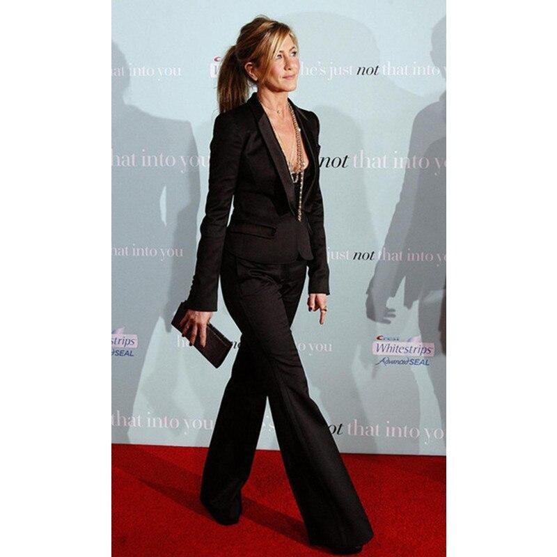 Custom Slim Fit Black Women Tuxedos Shawl Lapel Suits For Women Two Button Business Women Suits two piece Suit