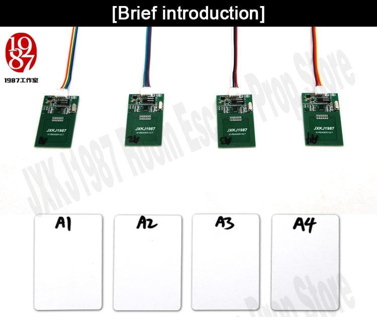 quatro rfid prop colocar quatro cartões ic