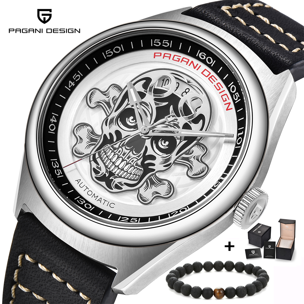 PAGANI DESIGN 3D Skeleton Automatic Mechanical Men Watch Fashion Casual Top Brand Luxury Wristwatches Relogio Masculino fashion winner men luxury brand gold skeleton genuine leather watch automatic mechanical wristwatches gift box relogio releges
