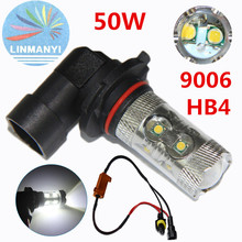 цена на 2PCS High Power 9006/HB4 50W 10 LED SMD Car Auto Driving  Canbus No Error Fog Light Head Lamp Bulb DRL 12V Day running lights