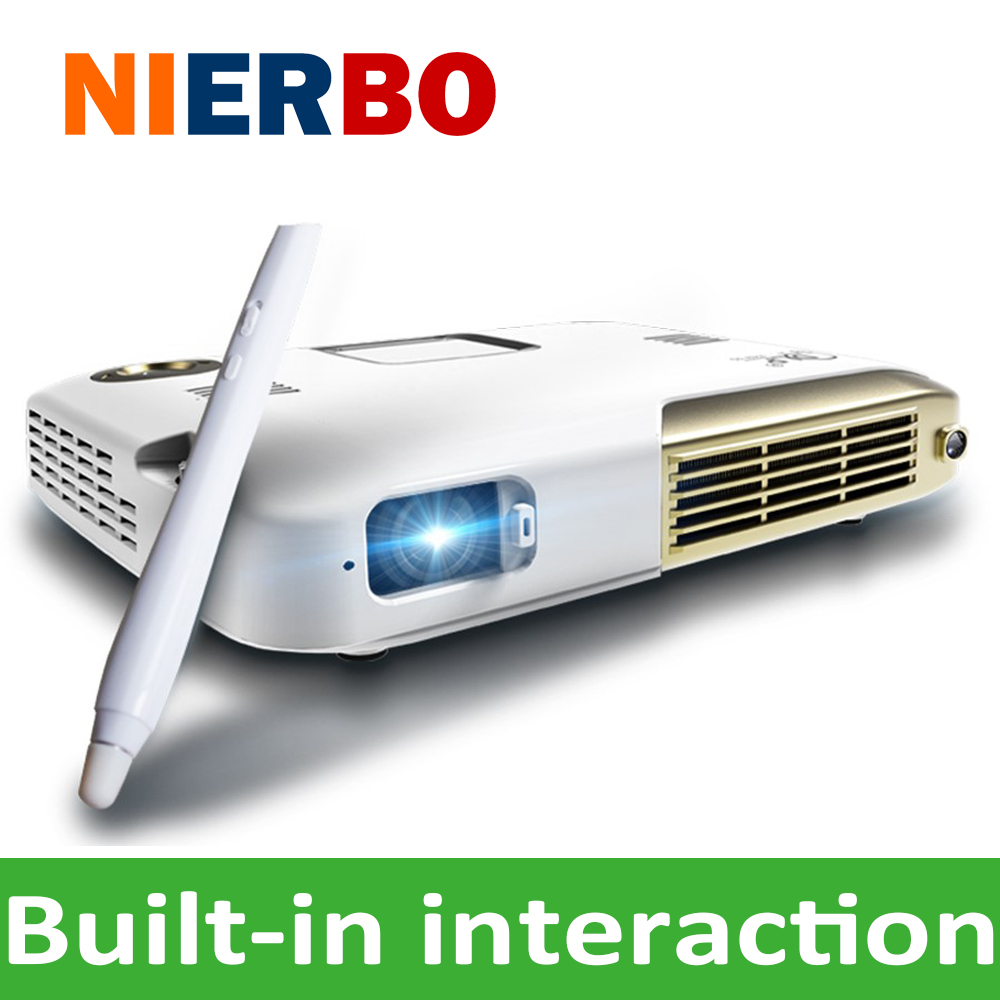 Led built in infrared interactive mini portable projector wifi bluetooth beamer android for Small bluetooth projector