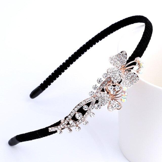 Aliexpress.com: Comprar Diadema de flores de diamantes de imitación ...