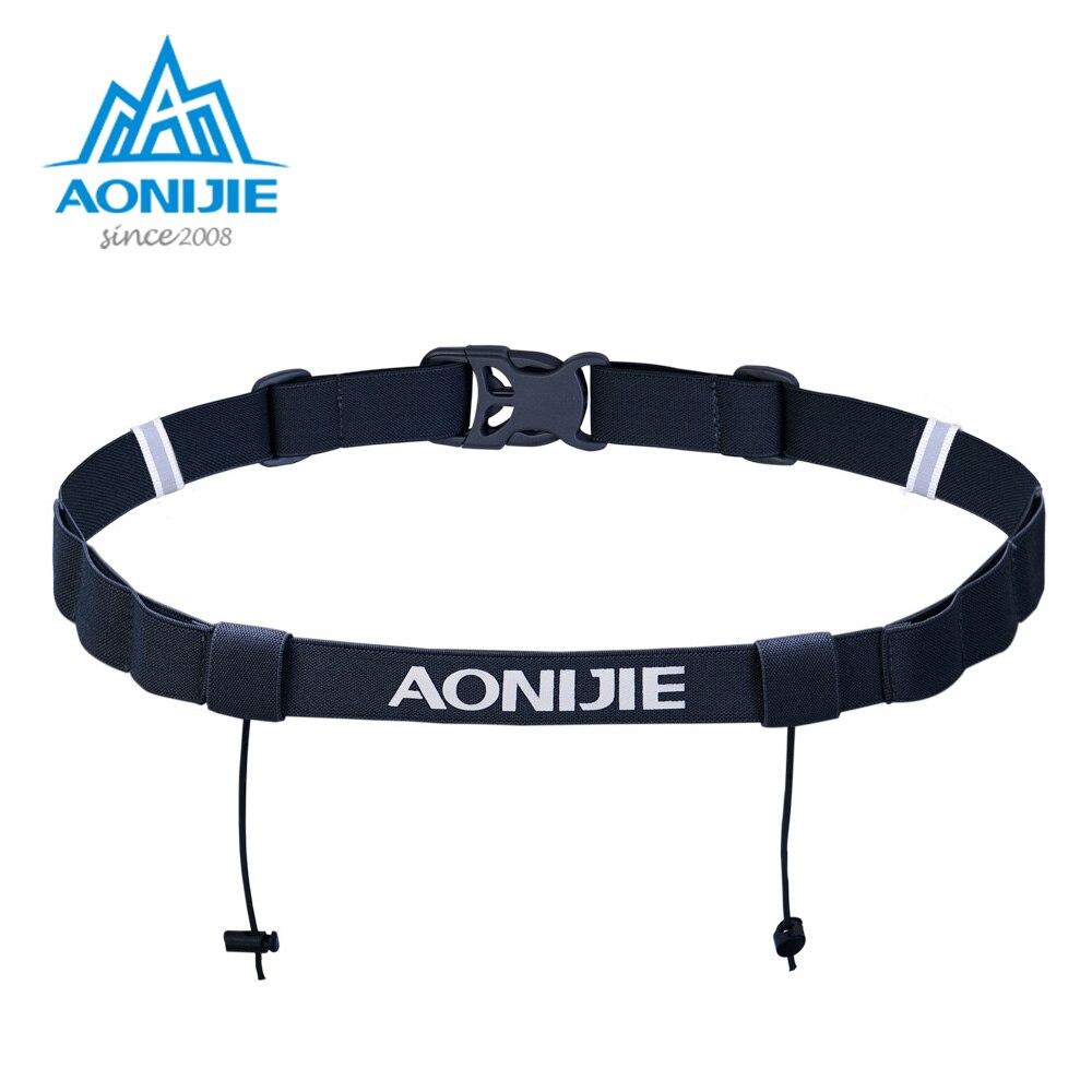 Aonijie unisex e4076 e4085 corrida número cinto pacote de cintura bib titular para triathlon maratona ciclismo motor com 6 gel loops